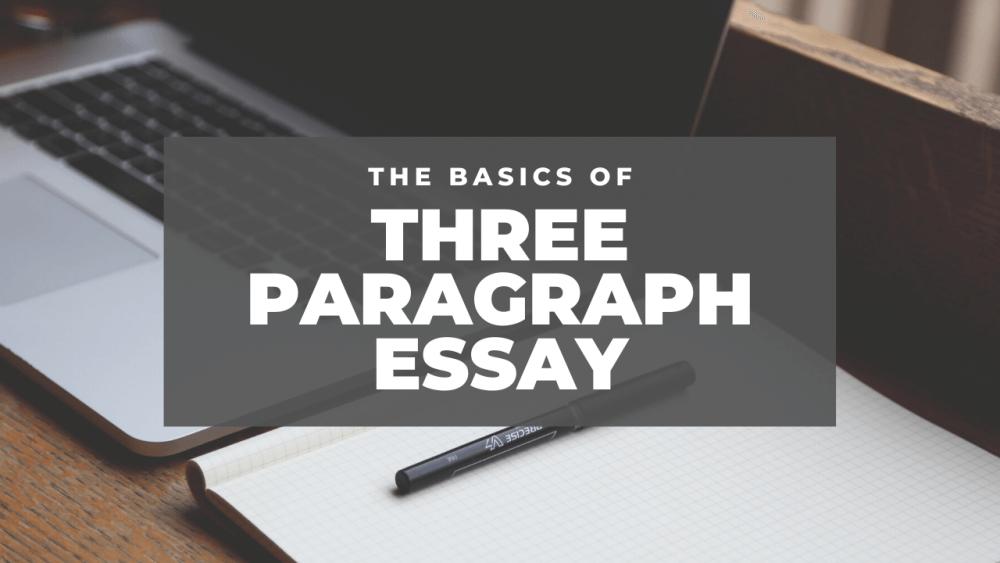 3 paragraph essay